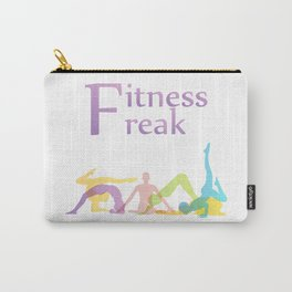 Fitness freak with people doing yoga Carry-All Pouch