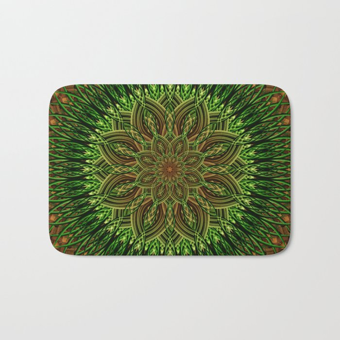 Earth Flower Mandala Bath Mat