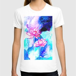 Painted waterlily T-shirt