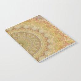 Topaz Gold Sun Marble Mandala Notebook