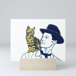 Shoulder Cat Mini Art Print