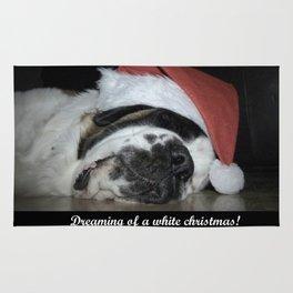 Christmas St Bernard dog Rug