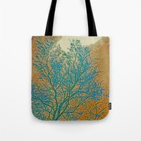 breaking Tote Bags featuring Weather Breaking by Anne Millbrooke