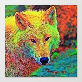 AnimalColor_Wolf_001_by_JAMColors Canvas Print