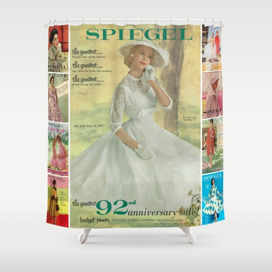 1957 Spring/Summer Catalog Cover Shower Curtain