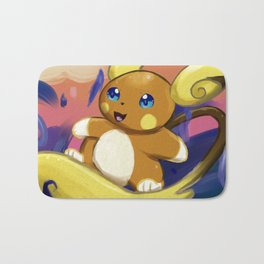 Surfing with Raichu Bath Mat