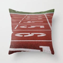Olympics Tartan Running Track Throw Pillow