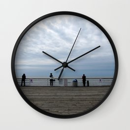 "untitled (Crystal Pier, San Diego) ""A SAFE PLACE"" series Wall Clock"