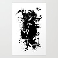 ninja Art Prints featuring Ninja by KawaINDEX