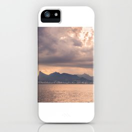 Heavens Burst over Christ the Redeemer iPhone Case