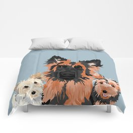 German Shepherd and 2 yorkies Comforters