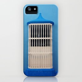 Blue Tones & White Window iPhone Case