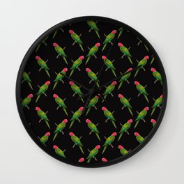 Parrot Pattern Wall Clock