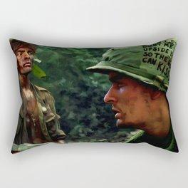 Charlie Sheen #2 @ Platoon Rectangular Pillow