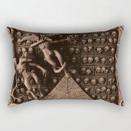 Cave Canem - Wall of Skulls (sepia) Rectangular Pillow
