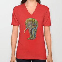 Painted Elephant Unisex V-Neck
