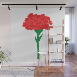Carnation Illustration Wall Mural