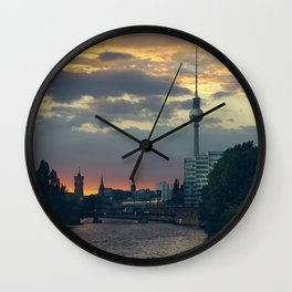Berlin Red Wall Clock