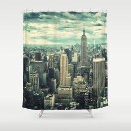 new york city panoramic view skyline Shower Curtain