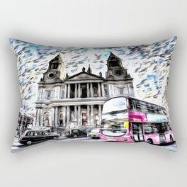 London Classic Art Rectangular Pillow