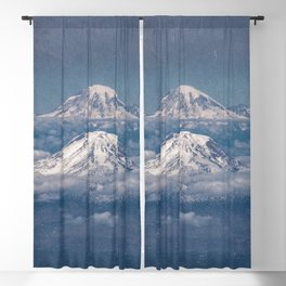 Mount Adams Mt Rainier - PNW Mountains Blackout Curtain