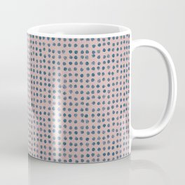 Blue dots on dusty rose - soft pastel Coffee Mug