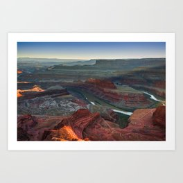 Colorado River and Dead Horse Point State Park at Sunset Art Print