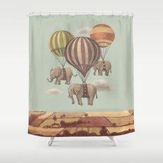 Flight of the Elephants - mint option Shower Curtain