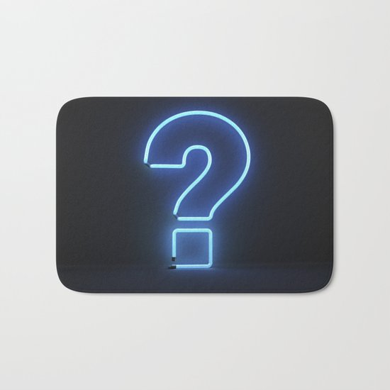 Question Mark (Neon) Bath Mat