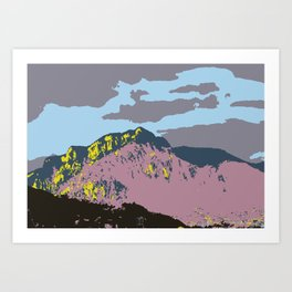POP MOUNTAINS #001 BY CAMA ART Art Print