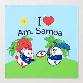 Ernest & Coraline | I love American Samoa Canvas Print