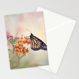 Monarch Butterfly  feeding on Tropical milkweed Stationery Cards