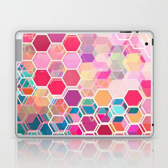 Rainbow Honeycomb - colorful hexagon pattern Laptop & iPad Skin