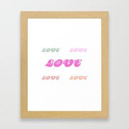 Love Words (pastel) Framed Art Print