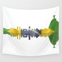 rio Wall Tapestries featuring Rio silhouette by South43