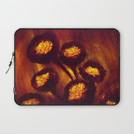 Brown Orange Flowers Luminous,Abstract Laptop Sleeve