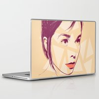 bjork Laptop & iPad Skins featuring Bjork by Isabel Arenas
