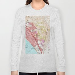 Vintage Map of San Clemente California (1968) Long Sleeve T-shirt