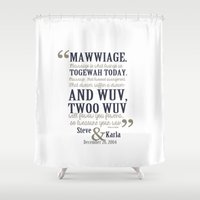 bedding Shower Curtains featuring steve and karla bedding by studiomarshallarts