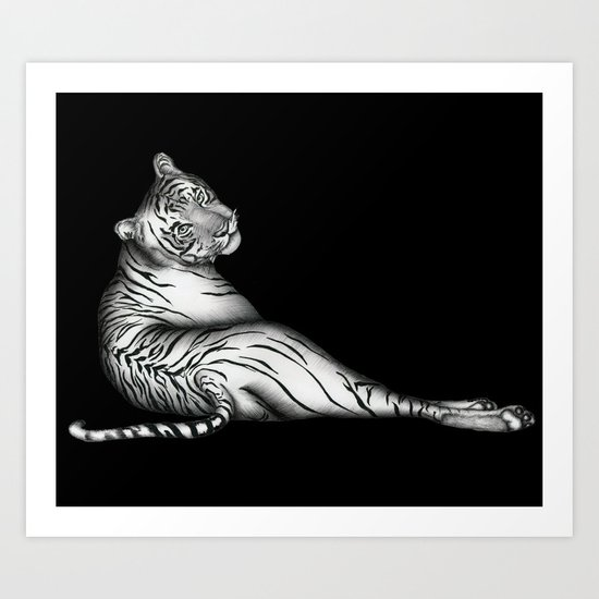The Hunter in Black Art Print