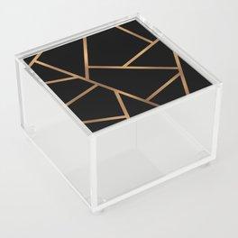 Black and Gold Fragments - Geometric Design Acrylic Box