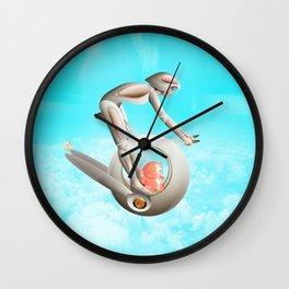 Time Barney girl and horny Robo Wall Clock
