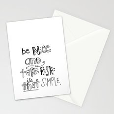 Nice + Risks = Happiness  Stationery Cards