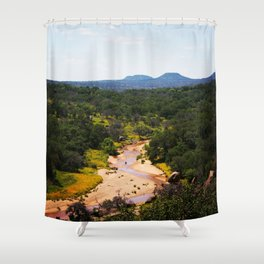 Volcano In The Distance Shower Curtain