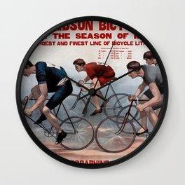 1895 Bicycle Lithos Ohio USA Wall Clock