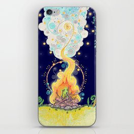 Woodland Campfire iPhone Skin