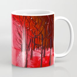 The Red Forest Painting Coffee Mug