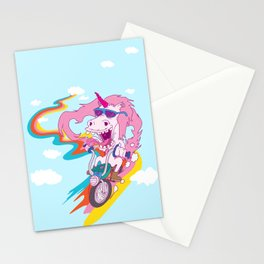 Unicorn Biker Stationery Cards