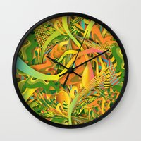 pineapple Wall Clocks featuring Pineapple by Danny Ivan