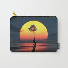 Sunset Balloons Girl Carry-All Pouch